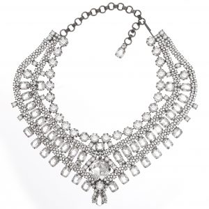Jewels by Alan Anderson Holiday Crystal Triangular Collar