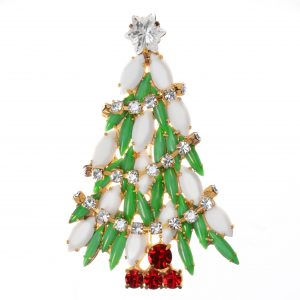 Jewels by Alan Anderson Holiday Christmas Tree Brooch