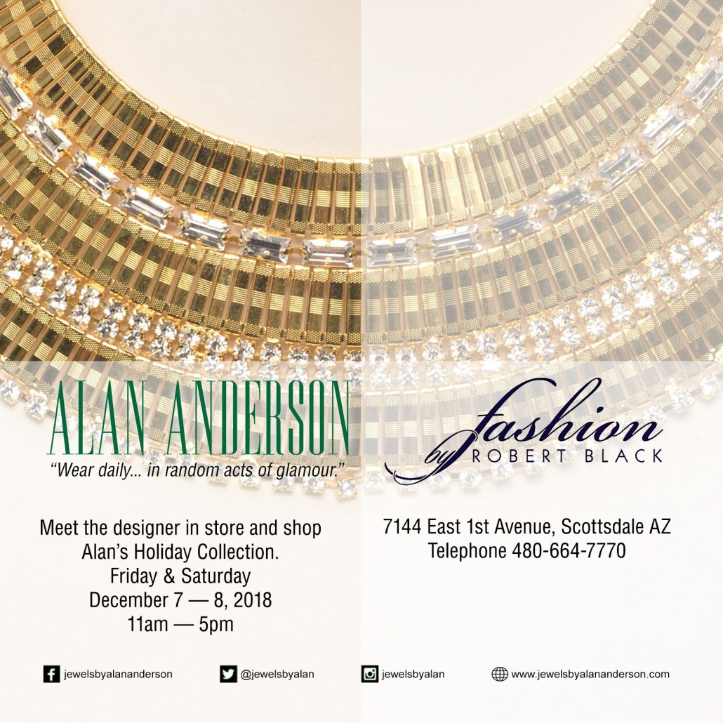 Alan Anderson Holiday Collection at Fashion by Robert Black Scottsdale AZ