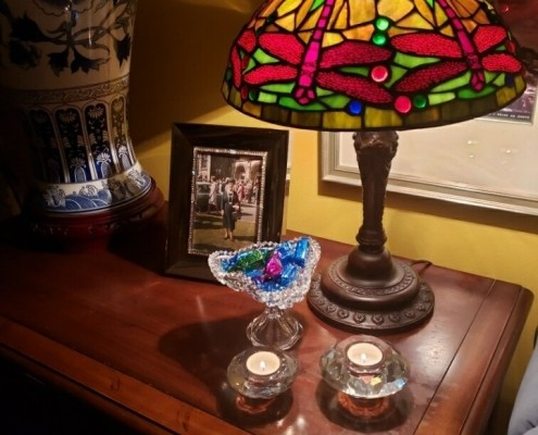 One of several Tiffany-style lamps in my collection.