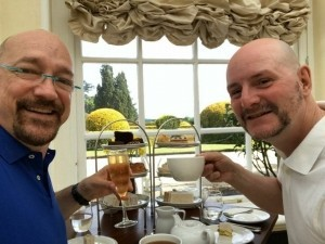 High tea at Blenheim Palace in the Orangery.