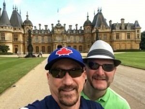 Waddesdon Manor and all its chimneys on a sunny day.