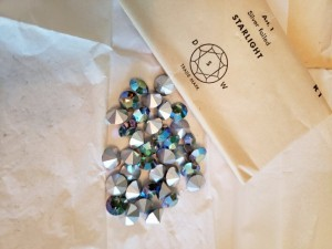 Vintage 1950s Starlight crystals in their original packaging